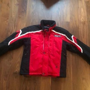 Men's Spyder ski jacket -red/black